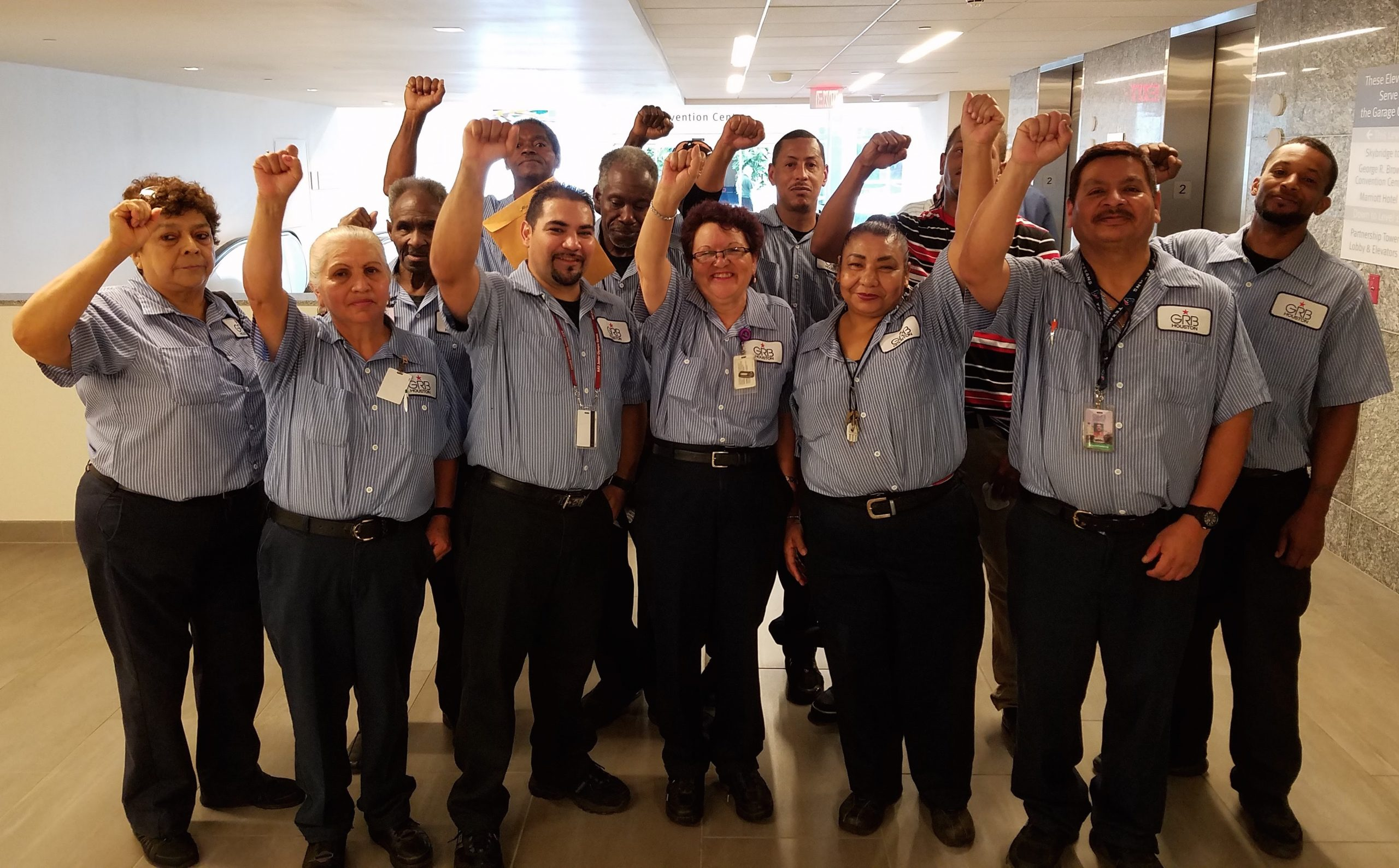 Historic! Houston Cleaning Workers Win Pathway to $12/Hour