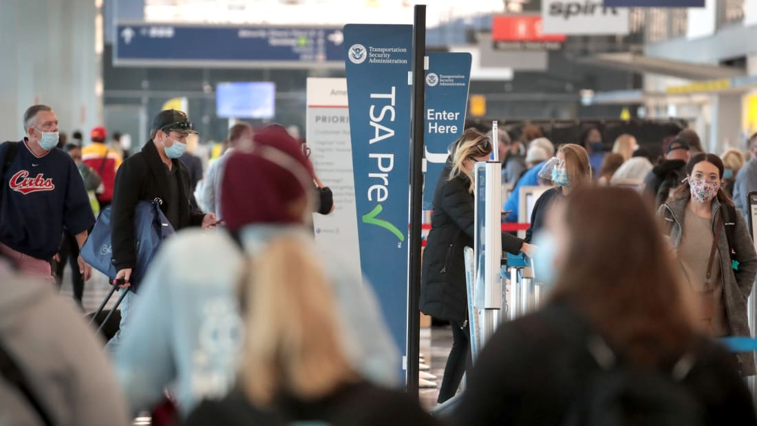 US airport workers fear for safety on Covid frontline, survey reveals